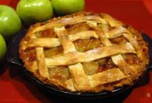 This is an apple pie. There are many like it, but this one is mine. And if you try to eat any, I will cut you. No really, I'll cut you.